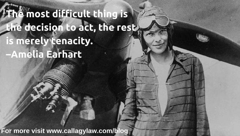 Amelia Earhart Callagy Law