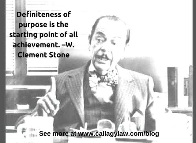 W Clement Stone Callagy Law