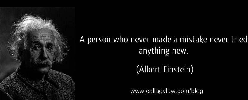 Einstein Callagy Law Quote