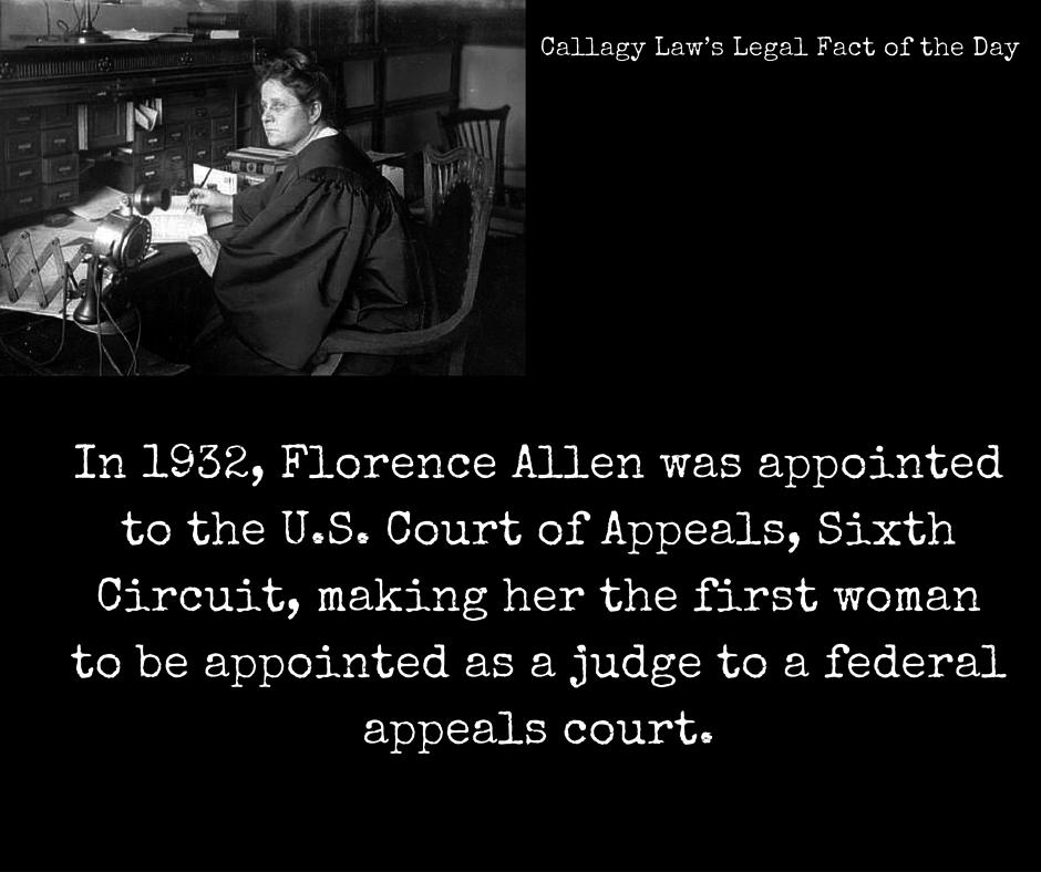 Florence Allan Callagy Law Legal Fact