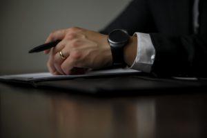 A lawyer writing a pre-litigation demand letter